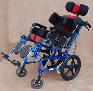 C.P. Wheelchair Folding with Head & Side Support (Child), Model IMI 958