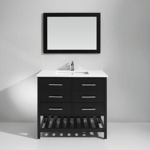 Black Solid Wood Bathroom Cabinet