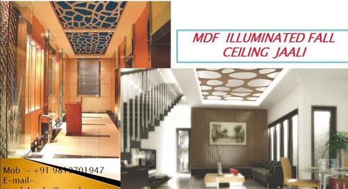 MDF Illuminated Fall Ceiling Jaali
