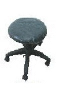 Revolving Stool With Leatherette Upholstery