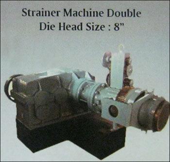 Double Die Head Strainer Machine