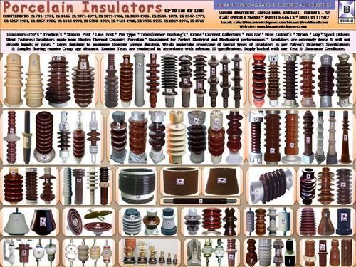 Porcelain Insulators - BINANI SWITCHGEARS & ELECTRICAL