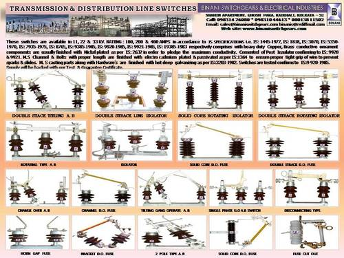 Transmission And Distribution Line Switches