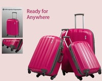 Colorful Travel PP Injection Luggage Set With TSA Lock And Twin Wheel