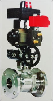 Two Piece Designed Ball Valve With Complete Automation System