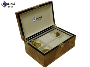 Gold Wooden Jewelry Display Case