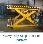 Heavy Duty Single Scissor Platform