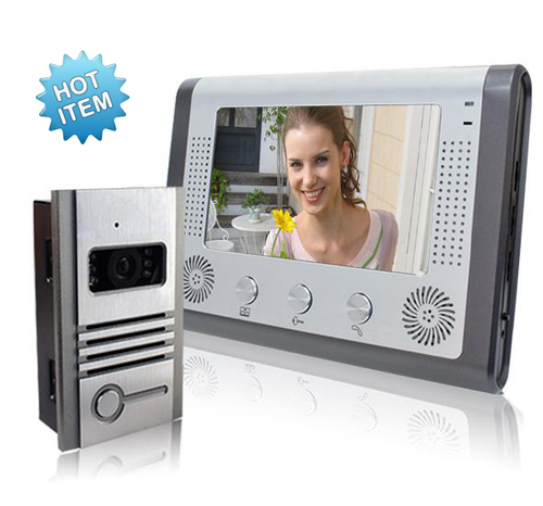 Home Security Audio/Video Door Phone 7 Inch