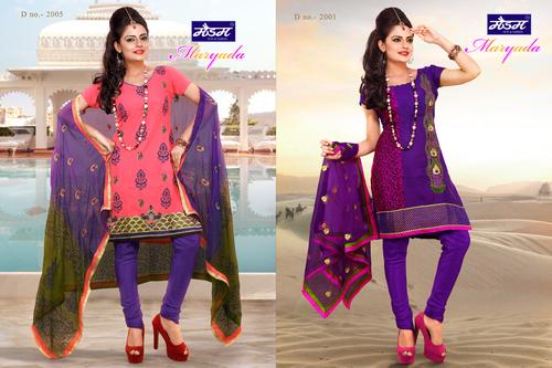Designer Cotton Dress Material in  Ring Road