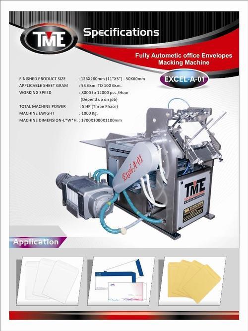 Automatic Envelopes Making Machine