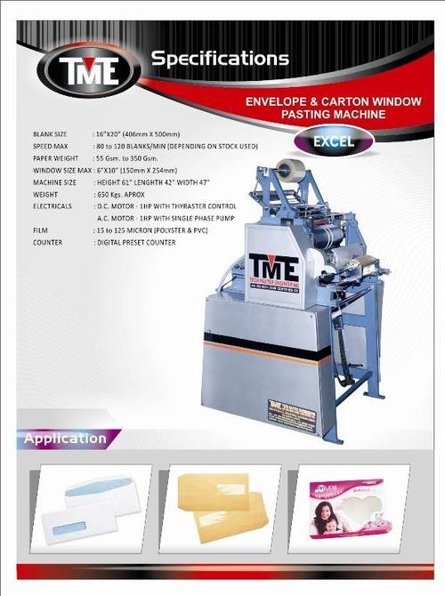 Envelope Carton Window Pasting Machine
