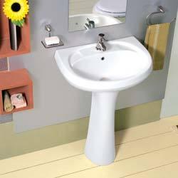 Repose Wash Basin With Pedestal