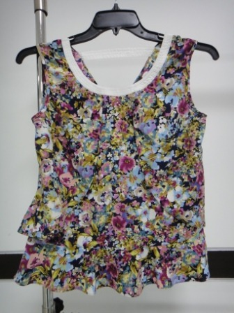 Printed Sleeveless Top in  63-Sector