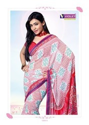 Printed Cotton Ladies Saree in  Ring Road
