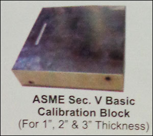 Asme Sec V Basic Calibration Block