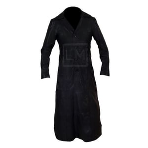 Blade Trinity Black Long Leather Trench Coat