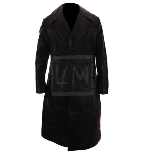 Carlitos Way Genuine Black Leather Long Coat