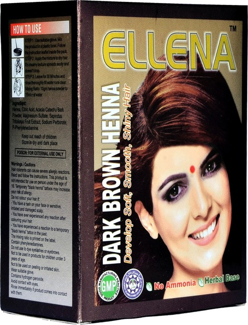 Ellena Dark Brown Henna Hair Color Jsr Engineering Controls No