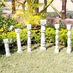Carved Sandstone Pillars