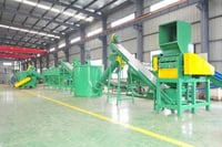PP And PE Film Crushing, Washing And Recycling Machines Line