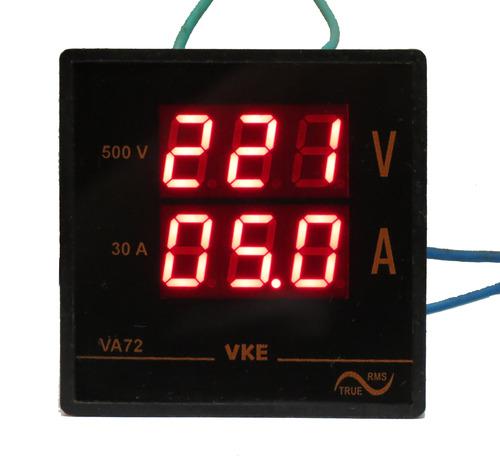 Dual AC Meter (72mm 500V, 30A)