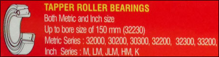 Taper Roller Bearings in  Kashmere Gate