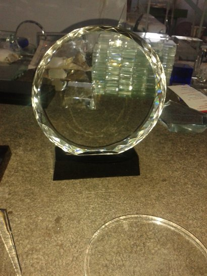 Round Crystal Trophy