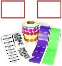 Red Border Label And Blank Labels