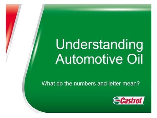 Automotive Oil Basics