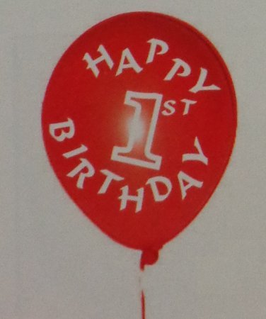 Assorted 1st Birthday Printed Balloons