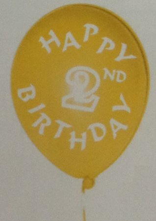 Assorted 2nd Birthday Printed Balloons