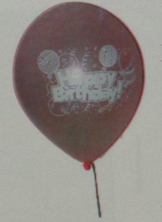 Pink Birthday Printed Balloons