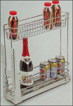 Kitchen Bottle/Organizer Pullout S.S. Mechanism