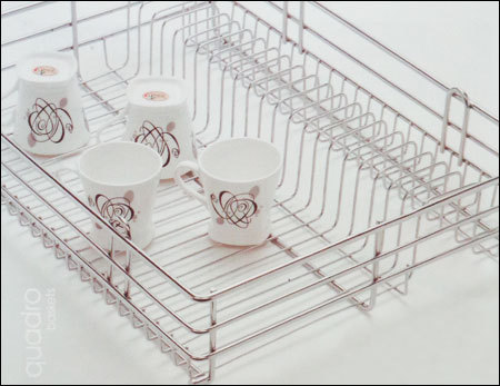 Kitchen Quadro Cup And Saucer Basket