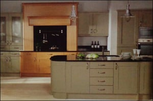 Modular Kitchen With Painted Timber Shaker Style Doors