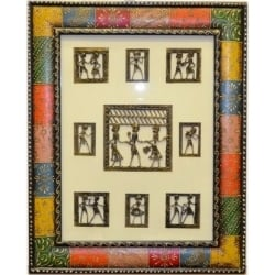 Decorative Coloured Embossed Dokra Painting