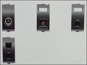 Tv Socket And Rj-11 Telephone Jacks (1 Module)