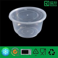 Injection Plastic Food Bowl for Soup or Sauce 450ml
