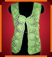 Ladies Crochet Plain Jacket