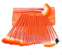 24Pcs Orange Cosmetic Brush Sets (Makeup Tools)