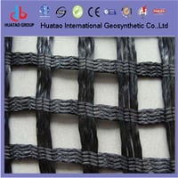 Polyester Woven Geogrid Coated With PVC