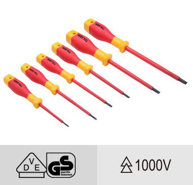 Vde Insulated Flat Screw Driver