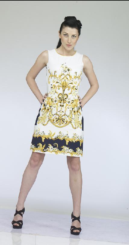 Women Printed Short Dress in  Jogeshwari (E)