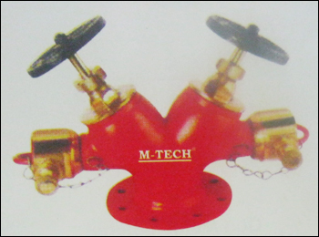 Fire Double Outlet Landing Valve