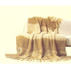 Hand Knitted Cashmere Throws