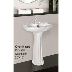 Pedestal Wash Basin Orchit Set