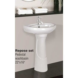 Pedestal Wash Basin-Repose Set (22