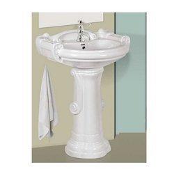 Pedestal Washbasin Sterling Set