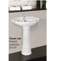 Pedestal Washbasin Towel Set White in    Dist. Surendra Nagar