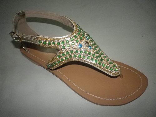 Handmade Embroidered Leather Sandal